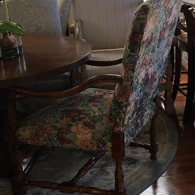 JOB 10.16 DR003 Floral Pink/Brown Arm Chair