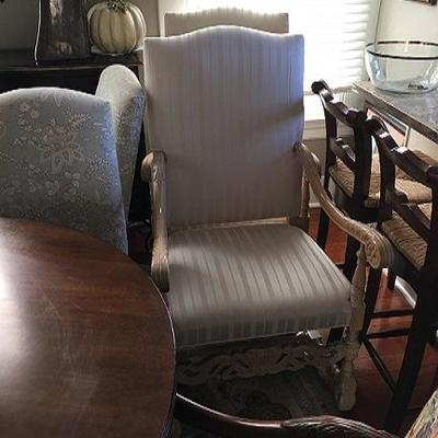 JOB 10.16 DR001 White Arm Chair 1 of 2