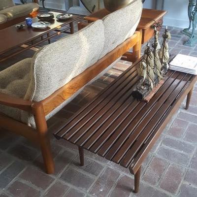 Slat Wood Table Arthur Umanoff