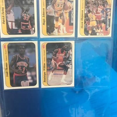 1986 NBA FLEER PREMIER plus 86/87 Insert Sticker Set (Item #500)