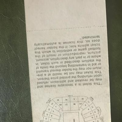 Super Bowl V Stadium Ticket (Item 144)
