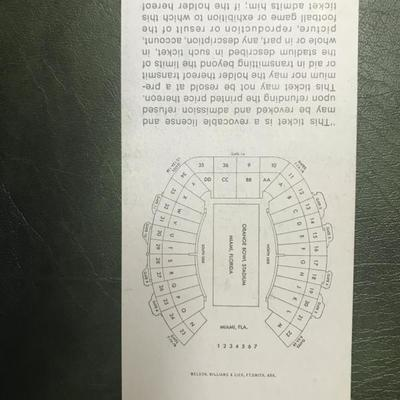 Super Bowl V Stadium Ticket (Item 143)