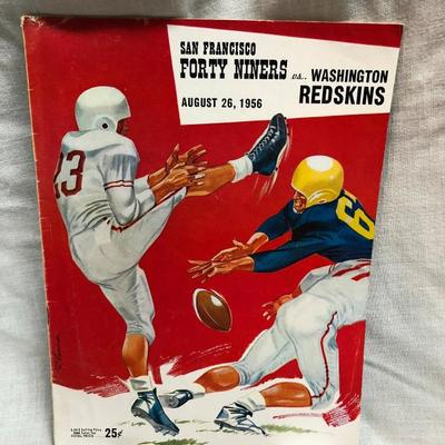 49ers vs Redskins Game Program 08/26/56 (item 236)