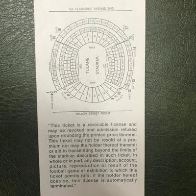Super Bowl IV Stadium Ticket (Item 142)