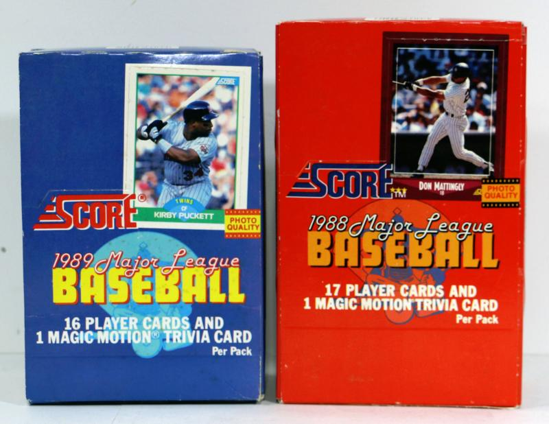 1988 1989 Score Major League Baseball Cards 2 Packs Complete Estatesalesorg