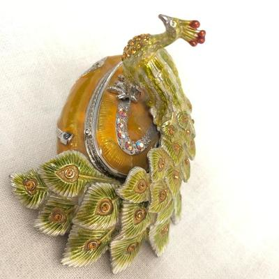 Peacock Jewelry Box (Item 906)