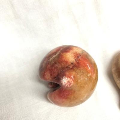 Set of 3 Fruit Shaped Stone Figurines (Item 909)