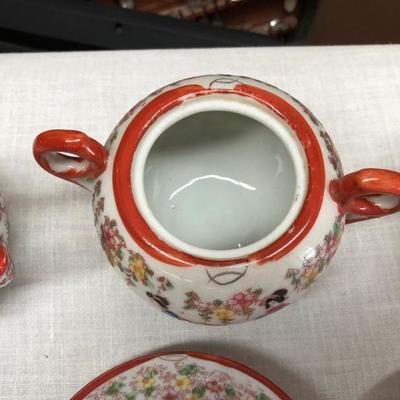 11 PC Hand Painted Japanese Tea Set (Item 1000)