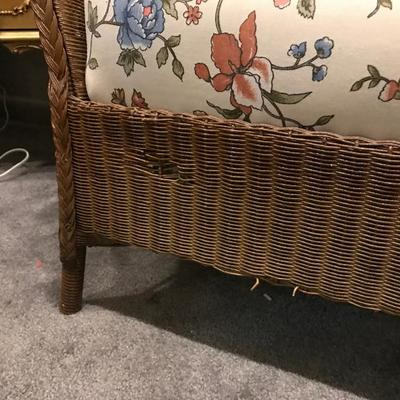 Lot 4-Vintage wicker sofa