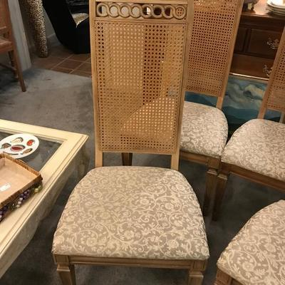 Lot 1-Set of 4 Vintage Thomasville Italian Style Dining Chairs