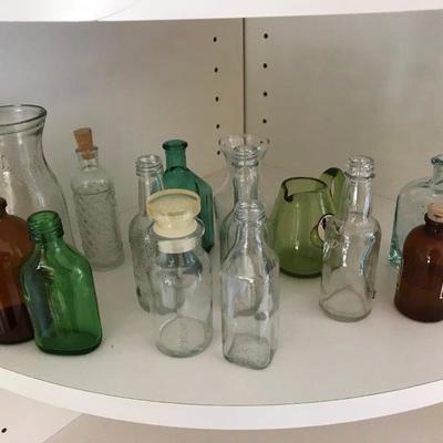 Lot 7-Office Shelf Lot of Bottles