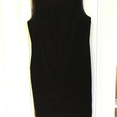 Lot 3-Talbots Black Velvet Little Black Dress