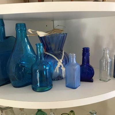 Lot 5-Office Shelf Lot of Bottles
