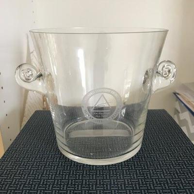 Lot 17-Tiffany & Co. Crystal Double Handle Ice Bucket