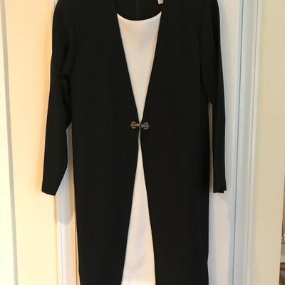 Lot 1-Nicole Studio Black and White Dress