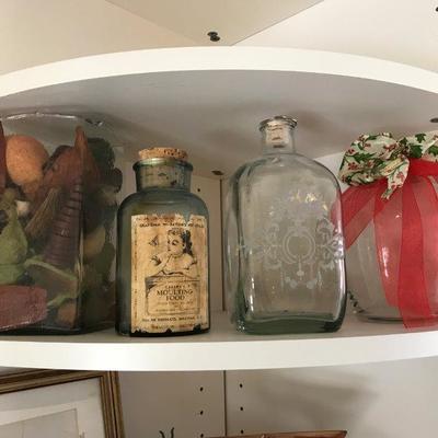 Lot 2-Office Shelf Lot of Bottles