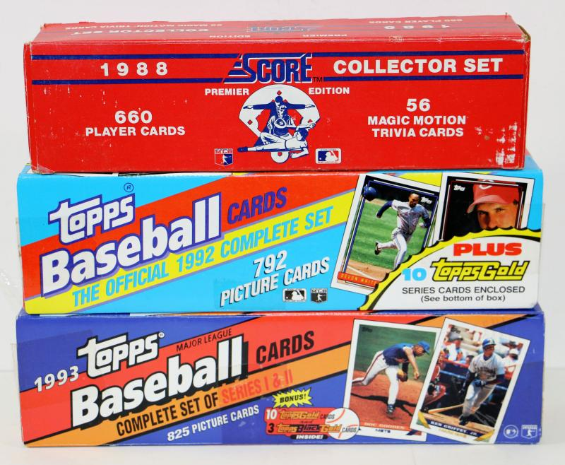 1992 1993 Topps Baseball Cards 1988 Score Player Cards Lot 508 32 Estatesalesorg