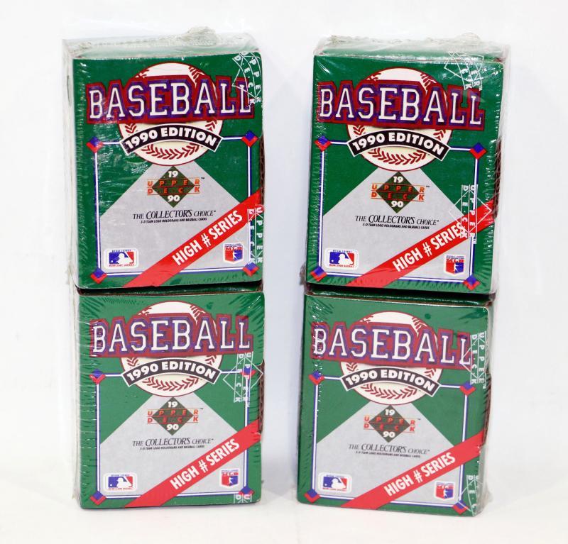 1990 Upper Deck Baseball Cards Lot Of 4 Packs High Series 529 51 Estatesalesorg