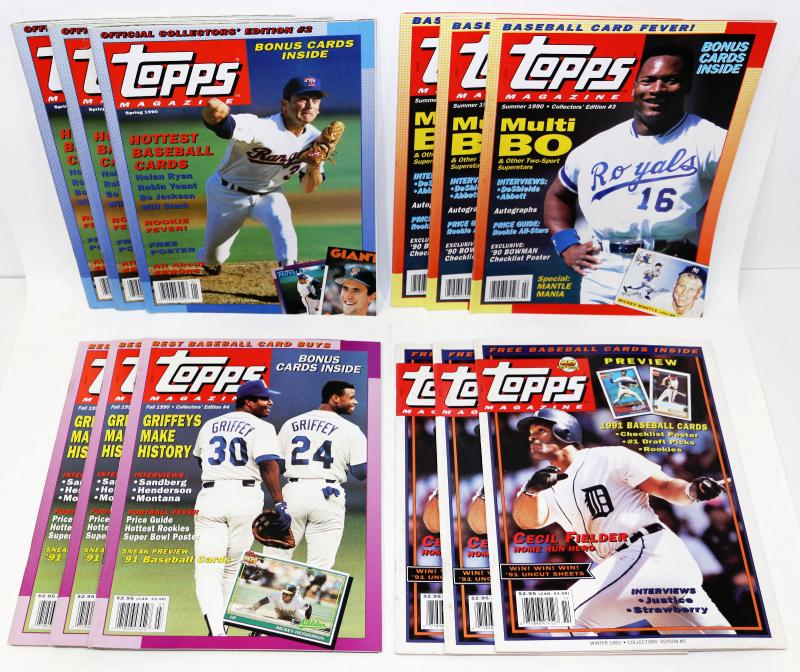1990 Topps Magaiznes Lot Of 12 All Mint W Cards And Posters 529 58 Estatesalesorg