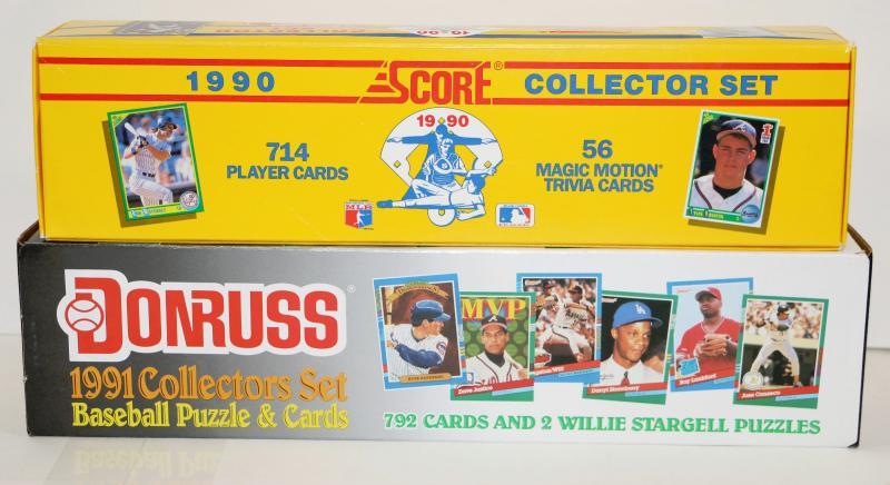 1990 Score 1991 Donruss Baseball Cards Sets 2 Boxes Lot 612 48 Estatesalesorg