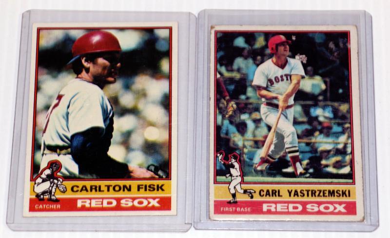 1976 Topps Carl Yastrzemski Carlton Fisk Baseball Cards Lot 815 31 Estatesalesorg