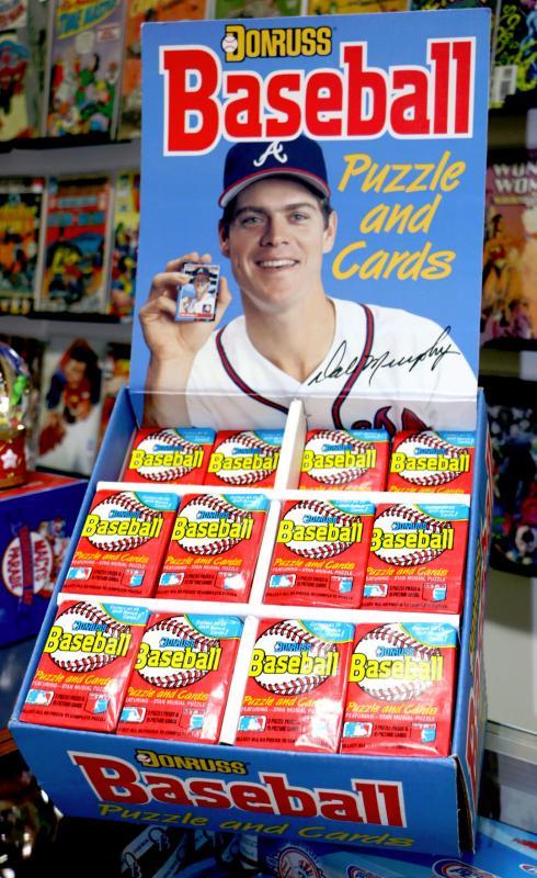 1988 Donruss Baseball Counter Display Case With 194 Sealed Wax Packs 828 70 Estatesalesorg