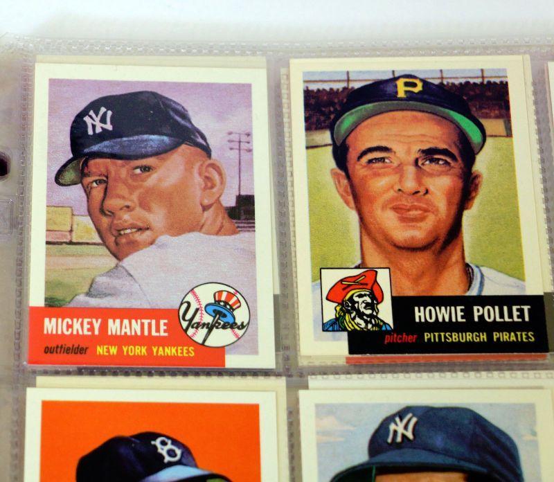 1953 Topps Archives Complete Baseball Card Set 1 337 Nmmt 1991 Mickey Mantle Estatesalesorg
