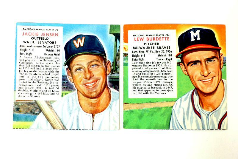 195354 Red Man Tobacco Baseball Cards Jackie Jensen 6 Lew Burdette 24 Estatesalesorg