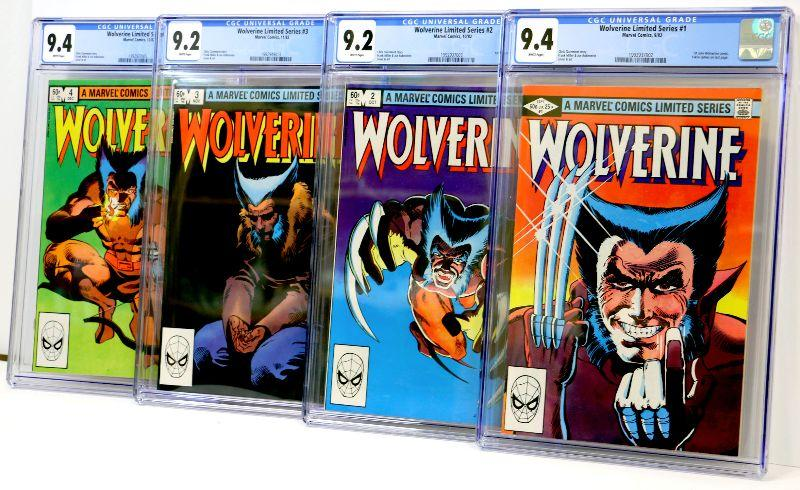 16982d05f37 WOLVERINE #1 #2 #3 #4 All Graded CGC 9.4 - 9.2 Marvel Comic Books Set -  RARE | EstateSales.org