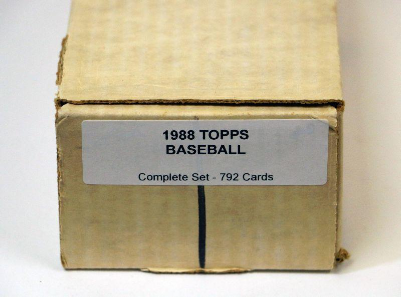 1989 Topps Baseball Factory Complete Set 792 Cards In Box Lot 406 Estatesalesorg