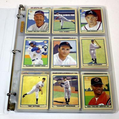2003 Topps Upper Deck Baseball Cards Collection 106 Cards In Binder Estatesalesorg