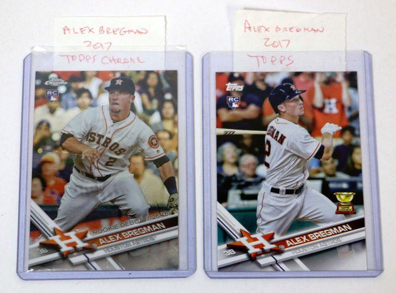 2017 Topps Chrome 2017 Topps Alex Bregman Baseball Cards Set Mint Estatesalesorg