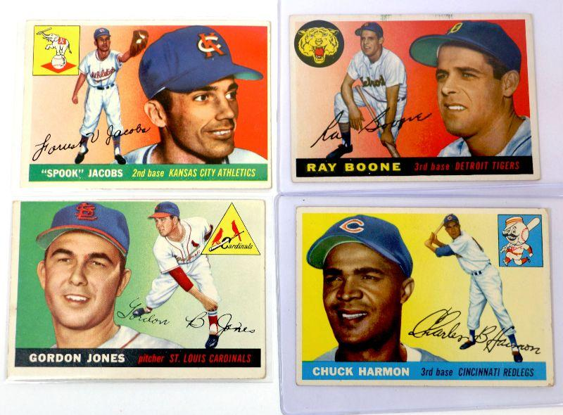 1955 Topps Baseball Cards Set 61 65 78 82 Higher Grade Cards Lot Estatesalesorg