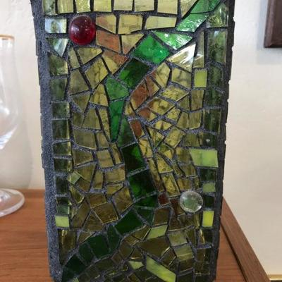 Mosaic Stained Glass Vase