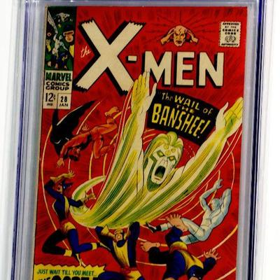 X-MEN #28 CGC 5.5 Marvel Comics 1/1967 1st appearance of Banshee