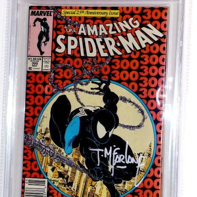 Amazing Spider-Man #300 Signed by Todd McFarlane CBCS 7.0 Venom Origin - Rare