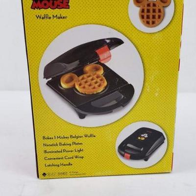 Mickey Mouse Waffle Maker, Disney - New
