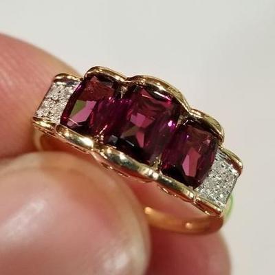 14k Rhodalite Garnet Bold Ring. Inv # 13