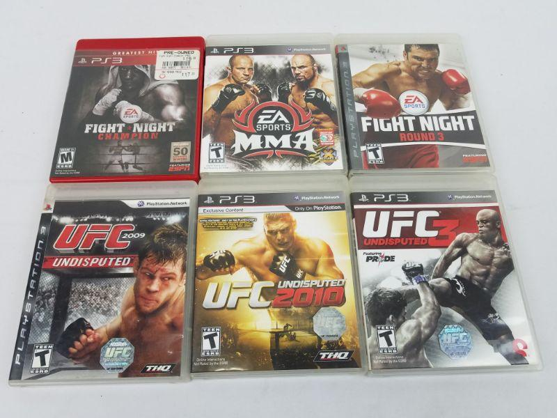 6 Playstation 3 Games: EA Sports Fight Night & UFC | EstateSales org