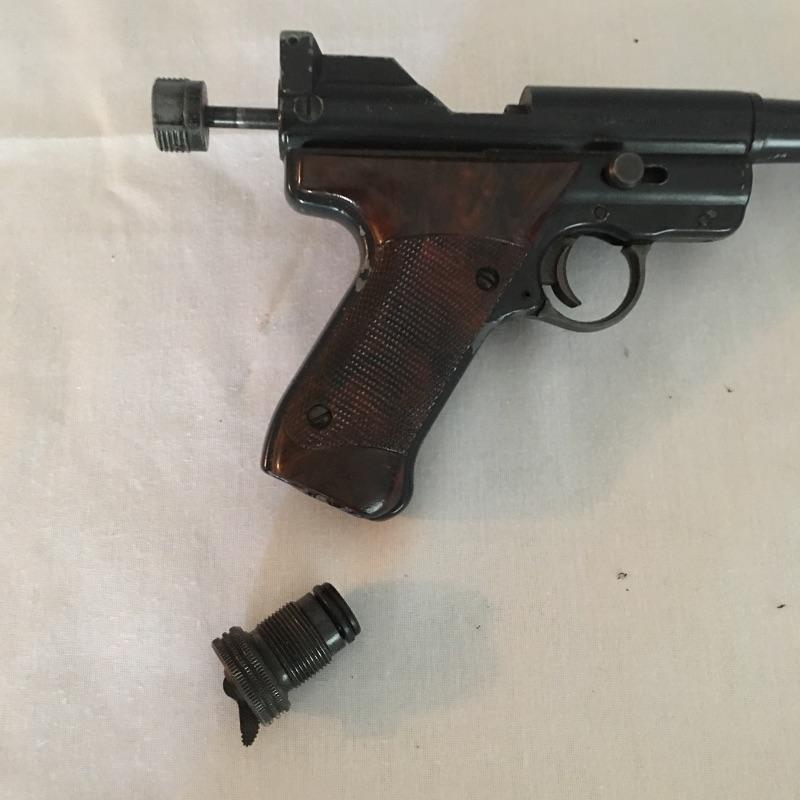Crosman Mark 1 target pellet gun with case.  Practice your marksmanship with this nice Crosman pellet gun.  Local pick up only.