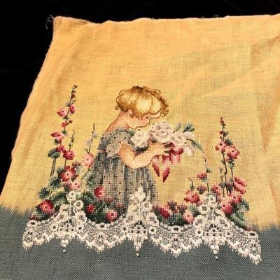 Counted Cross Stitch little girl