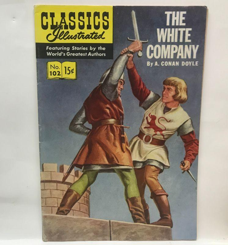 Original 1952 Classics Illustrated 102 The White Company comic book. All items SOLD AS IS, AS SHOWN and subject to reserve bid. Unsold and Unpaid items will be relisted. Items can be picked up on Wednesday June 5th between 5-7 PM. We can ship small items. For items we do not ship, Buyer can use commercial shipper (UPS, Fedex, etc) Pack and Ship services and we will work with them.