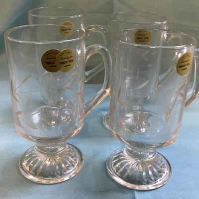 Vintage Princess House Irish Coffee Mugs
