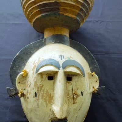 Lot 39: Afrikpo, Nigeria Style Mask 19th-20th Century