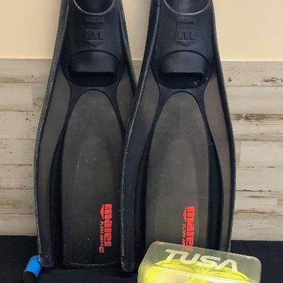 Mares Flippers, Mask and snorkel