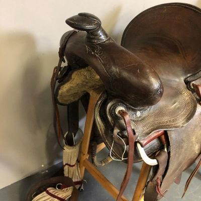 Antique Western Saddle