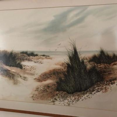 Fran Larsen Watercolor in Excellent Condition