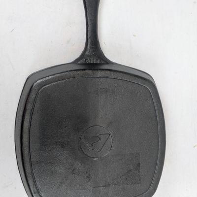 Ozark Trail Cast Iron Pan, Square 10