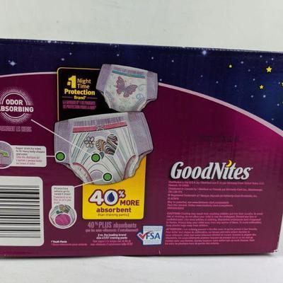 Goodnites Bedtime Pants, L-XL, 34 Count - New
