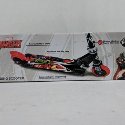 Huffy Marvel Avengers Folding Scooter, Open Package - New